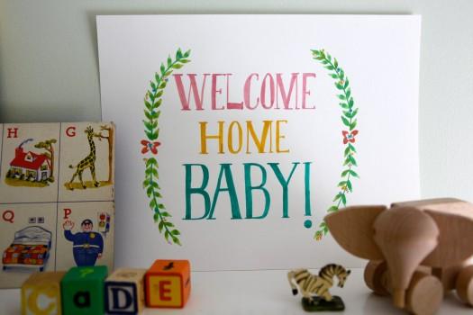 Bébé & Maman rentrent à la maison !