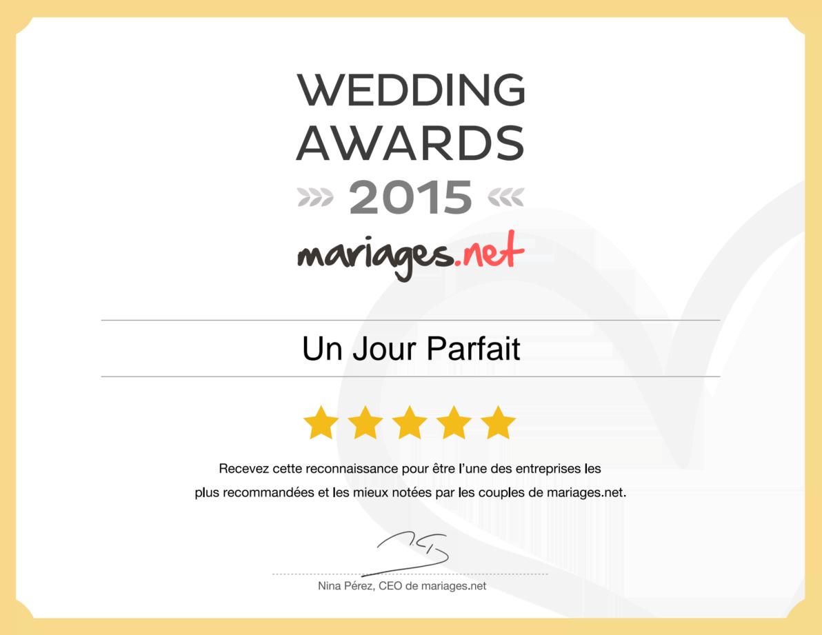 Recommandé sur mariages.net en 2015