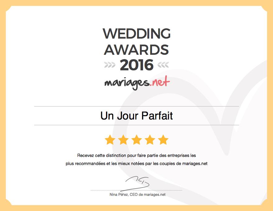 Recommandé sur mariages.net en 2016