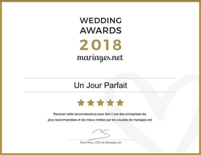 Recommandé sur mariages.net en 2018