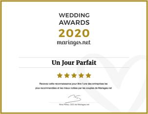 Recommandé sur mariages.net en 2020
